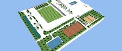 پروژه آماده سه بعدی ورزشگاه در اسکچاپ SKETCHUP